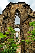 Oybin, hrad, klášter, zřícenina