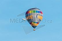 Horkovzdušný balon, letadlo