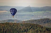 Drtinova rozhledna, horkovzdušný balon, letecky