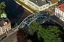 Most, Jizera, Palackého, ulice, Turnov, letecky