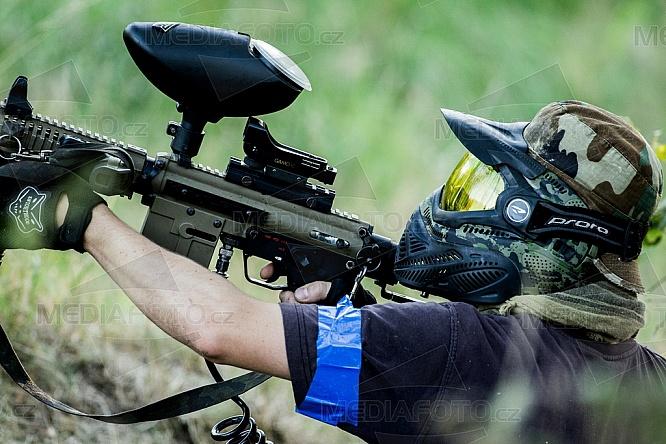 Paintball, zbraň, maska