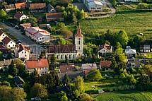 Kostel sv. Prokopa v Libošovicích.