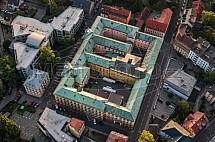 Vazební věznice, Krajský a Okresní soud, Liberec, letecky