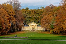 Oranžerie, park, Sychrov, podzim