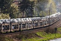 Automobil, vlak, železnice, přeprava