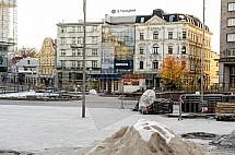 Liberec, Soukenné náměstí, rekonstrukce.