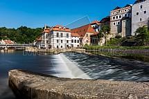 Český Krumlov, Vltava, jez