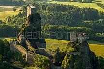 Trosky, zřícenina, hrad, Český ráj