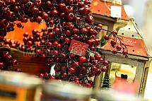 Vánoce, trh, výzdoba, bobule