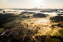 Obec Čím, horkovzdušný balon