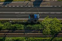 Dopravní cesty, doprava, nákladní, silnice, železnice, koleje