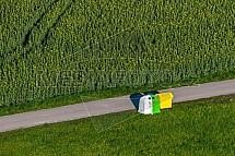 Tříděný odpad, řepka, pole