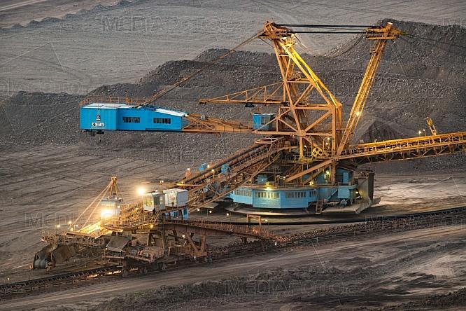 Rypadlo, důl, uhlí
