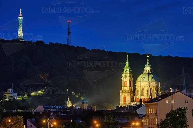 Kostel sv. Mikuláše, Petřínská rozhledna, Praha