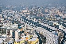 Liberec, nádraží, letecky