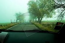 Chodec, doprava, bezpečnost, mlha