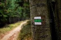 Turistická značka, trasa, zelená