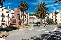 Bosa, náměstí, Sardinie