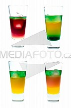 koktejl, alkohol, sklenice, absint, džus