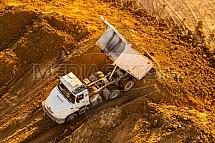 Automobil, nákladní, Tatra, sklápěcí, náklad, písek