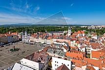 Samsonova kašna, náměstí Přemysla Otakara II., České Budějovice