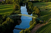 Řeka Jizera, most