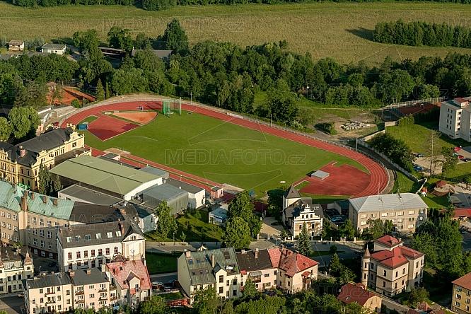 Atletický stadion Turnov, letecky