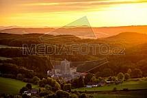Hrad Kost, západ slunce