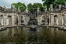 Drážďany, fontána, Zwinger