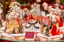 Vánoce, trh, výzdoba, zvonek