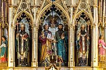 Oltář, výzdoba, kostel sv. Petra a Pavla, Vyšehrad