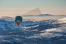 Ještěd, horkovzdušný balón, Krkonoše, letecky