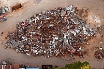Sběr, šrot, železo, hromada, výkup, surovina