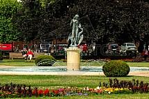 socha, fontána, kolonáda Poděbrady