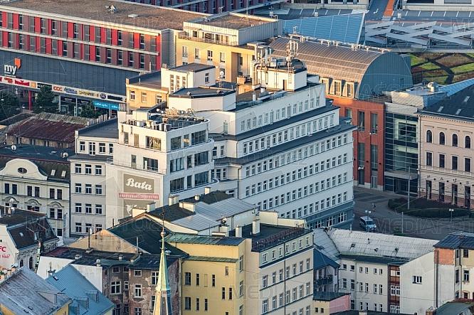 Palác Dunaj, OC Forum, Liberec, letecky