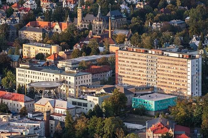 Krajská nemocnice Liberec, letecky