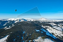 Horkovzdušný balón, Sněžka, Krkonoše, letecky