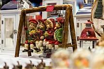 Vánoce, trh, výzdoba, houpačka