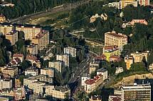Liberec, Textilana, ulice na Bídě
