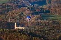 Hrad Kost, horkovzdušný balón, Český ráj