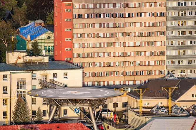 Heliport, Krajská nemocnice Liberec, letecky