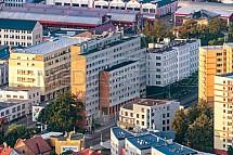 Finanční úřad, Liberec, letecky, budova