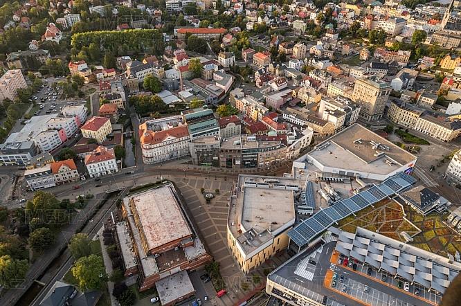 Dům kultury Liberec, OC Forum, letecky