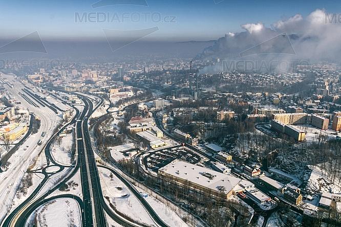 Liberec, R35, silnice, teplárna, spalovna