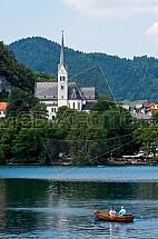 Kostel svatého Martina, Bled, jezero